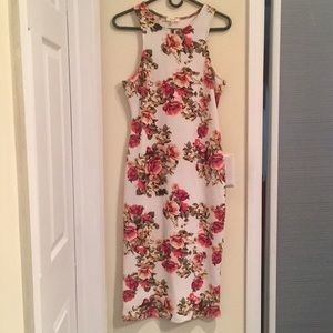 Women's Floral Fitted Full Body Dress
